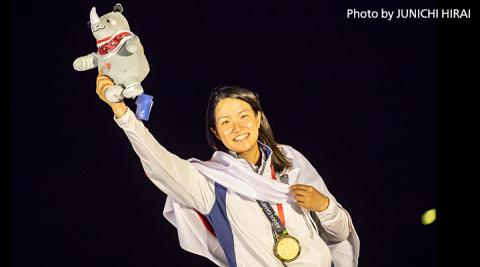 Team ABeam's Manami Doi wins gold in Asian Games 2018.