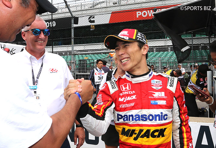 Sato wins third place in the 103rd Indy 500!