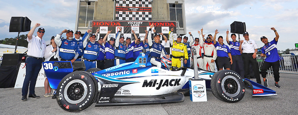 Takuma Sato wins his 4th IndyCar victory in Alabama
