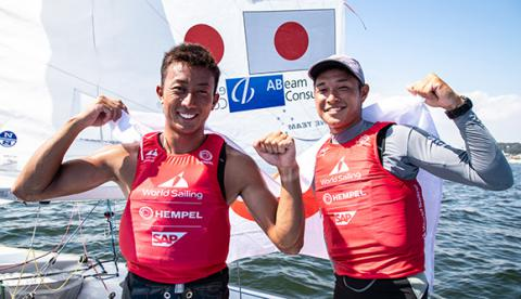Kazuto Doi, Naoya Kimura Win 470-class bronze for Team ABeam in the Sailing World Cup Enoshima regatta