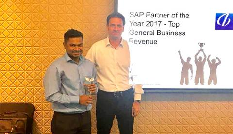 ABeam Malaysia received a SAP Partner of The Year 2017