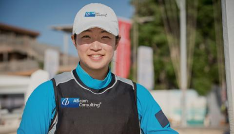 Another qualification by Team ABeam to represent Japan in Rio - Ms.Manami Doi at Women's Sailing Laser Radial Class