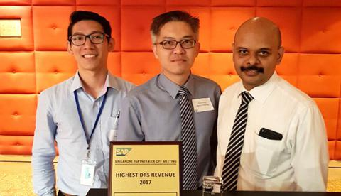 ABeam Singapore received a SAP Highest DRS Revenue 2017 Award