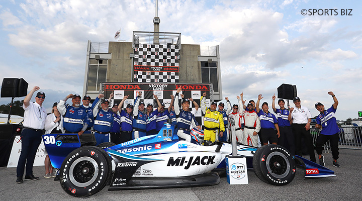 Takuma Sato wins his 3rd IndyCar victory in Alabama